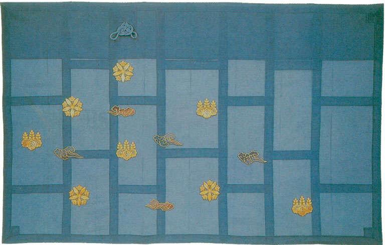 五色雲両山紋刺繍