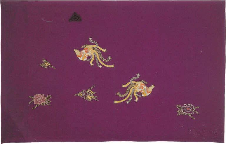 牡丹鳳凰刺繍